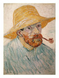 Self-Portrait with Pipe and Straw Hat  c1888