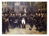 Napoleon&#39;s Farewell at Fountainbleau