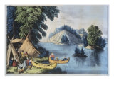 Indian Encampment on the St Lawrence