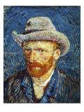 Self Portrait with Grey Felt Hat, c.1887 Giclée par Vincent Van Gogh