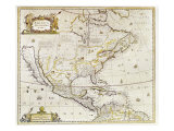 Antique Map Print of North America
