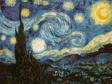 La nuit étoilée, vers 1889 Reproduction d'art par Vincent Van Gogh
