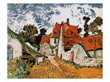 Street in Auvers (Les Toits Rouges)  c1890