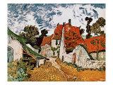 Street in Auvers (Les Toits Rouges), c.1890 Giclée par Vincent Van Gogh
