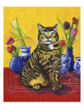 Cat and Tulips II (Chat Tulipes II)
