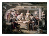 Signing the Mayflower Compact  1620