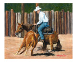Quarter Horse Cutting Scene
