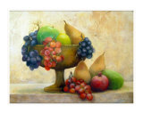 fruit in a pedestal bowl