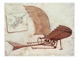 Machine volante Giclée par Leonardo Da Vinci