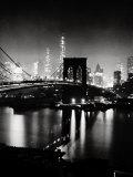 Night View of the Brooklyn Bridge