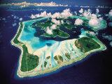 Aerial View  Bora Bora  French Polynesia