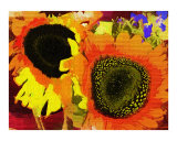Sunflower Duet Oil Painting by Sharon Snead