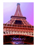 Pink Eiffel Tower in Paris