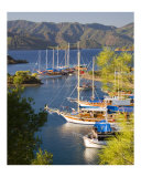 Gulets Boats on the Turquoise Coast of Turkey