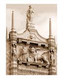 The Lion of Venice Between Spires