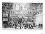 Westminster Hall  West End  with the Courts of Chancery and Kings in Session
