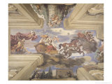"The ""Sala Di Aurora"" Detail of the Ceiling Depicting Dawn's Chariot  1621"