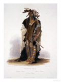 "Wahk-Ta-Ge-Li  a Sioux Warrior  Plate 8 from Volume 2 of ""Travels in the Interior of North America"""