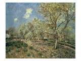 Springtime at Veneux  1880