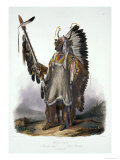 "Mato-Tope  a Mandan Chief  Plate 13 from Volume 2 of ""Travels in the Interior of North America"""