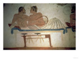 Banquet Attended by the Deceased  Detail from a Painting in the Tomb of the Diver  circa 480 BC