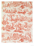 Toile De Jouy  Illustrating the Processes of Manufacturing Cotton  Designed by Christophe Huet