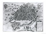 Map of Antwerp  1598