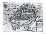 Map of Antwerp  1598