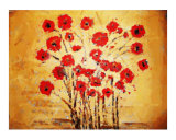 Poppies on Gold Chalk