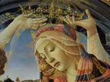 The Madonna of the Magnificat  Detail of the Virgin&#39;s Face and Crown  1482