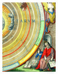 An Astronomer  Detail from a Map of the Planets