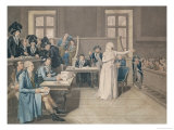 Marie Antoinette of Austria Judged by the Revolutionary Tribunal Court  16th October 1793