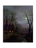 Moonlit Street Scene  1882