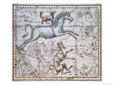 "Monoceros  from ""A Celestial Atlas "" Published in 1822"
