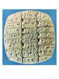 Accounts Table with Cuneiform Script  circa 2400 BC