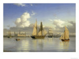 Sailing Vessels off Kronborg Castle  Sweden  1880