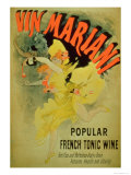 "Poster Advertising ""Mariani Wine  Popular French Tonic Wine"""