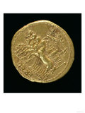 Aureus of the Deified Claudius Minted under Nero Depicting a Chariot with Four Horses
