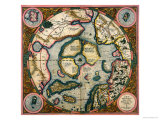 Septentrionalium Terrarum Descriptio  Map of the Arctic  1595