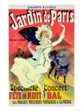"Reproduction of a Poster Advertising the ""Jardin De Paris"" on the Chanps Elysees  1890"