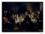 The Last Banquet of the Girondins  circa 1850