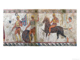 Foot Soldiers and Cavalry  Tomb Painting from Paestum