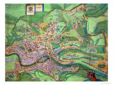"Map of Rome  from ""Civitates Orbis Terrarum"" by Georg Braun and Frans Hogenberg  1570"