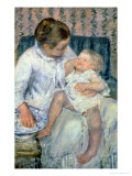 Mother About to Wash Her Sleepy Child  1880
