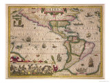Map of America  from the Mercator &quot;Atlas &quot; Published by Jodocus Hondius  Amsterdam  1606