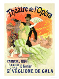 Reproduction of a Poster Advertising the 1896 Carnival at the Theatre De L'Opera