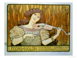 Reproduction of a Poster Advertising &quot;Violin Lessons &quot; Rue Denfert-Rochereau  Paris  1898