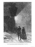 "An Enormous Shadow  Preceded by a Bright Light  Illustration from ""Around the World in Eighty Days"""