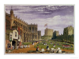 Lower Ward with a View of St George's Chapel and the Round Tower  Windsor Castle  1838