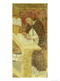 """Hugues De Provence at Desk  from the Cycle of """"Forty Illustrious Members of the Dominican Order"""""""